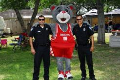 Officers get a visit from Clutch!