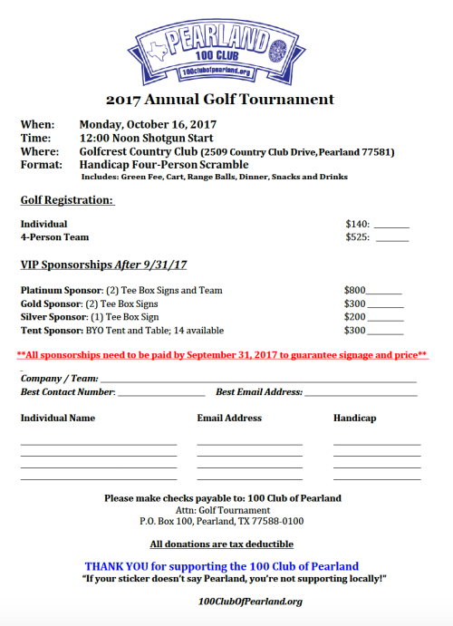 2017 golf flyer